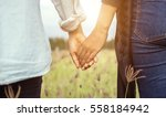 closeup of loving couple... | Shutterstock . vector #558184942