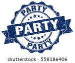 party. stamp. sticker. seal.... | Shutterstock .eps vector #558186406