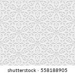 seamless arabic geometric ... | Shutterstock .eps vector #558188905