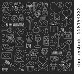 valentine day vector pattern... | Shutterstock .eps vector #558194332