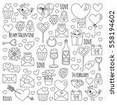 valentine day vector pattern... | Shutterstock .eps vector #558194602
