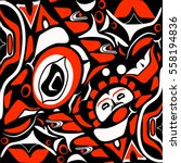 abstract red background native... | Shutterstock .eps vector #558194836