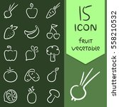 icons  fruit and vegetables... | Shutterstock .eps vector #558210532