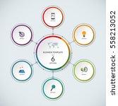 infographic circle. modern... | Shutterstock .eps vector #558213052
