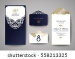 wedding invitation or greeting... | Shutterstock .eps vector #558213325