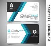 blue modern creative business... | Shutterstock .eps vector #558215992