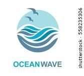 abstract design of ocean logo...