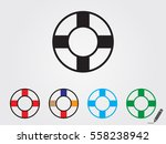 lifebuoy  icon  vector... | Shutterstock .eps vector #558238942
