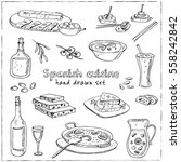 vector hand drawn set of... | Shutterstock .eps vector #558242842