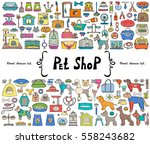 vector set with hand drawn... | Shutterstock .eps vector #558243682
