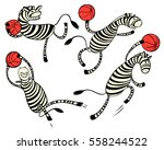 basketball game set with doodle ... | Shutterstock .eps vector #558244522