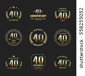 forty years anniversary... | Shutterstock .eps vector #558255052