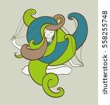 joga girl | Shutterstock .eps vector #558255748