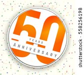 fifty years anniversary banner. ... | Shutterstock .eps vector #558256198