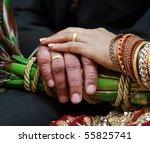 wedding hand  rings | Shutterstock . vector #55825741