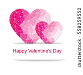 happy valentines day card.... | Shutterstock .eps vector #558259552