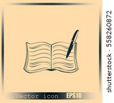 book vector icon | Shutterstock .eps vector #558260872