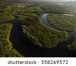 aerial view of amazon... | Shutterstock . vector #558269572