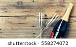 champagne. champagne bottle and ...   Shutterstock . vector #558274072