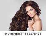 healthy hair. beautiful... | Shutterstock . vector #558275416