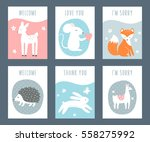 forest animals sentimental... | Shutterstock .eps vector #558275992