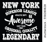 new york city superior league ... | Shutterstock .eps vector #558280828