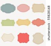 vector set of vintage frames | Shutterstock .eps vector #55828168