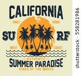 california summer paradise ...   Shutterstock .eps vector #558281986