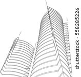 architectural drawing. 3d... | Shutterstock .eps vector #558285226