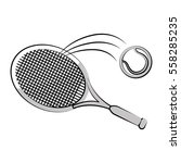 tennis ball and racket icon... | Shutterstock .eps vector #558285235