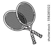 tennis rackets icon over white... | Shutterstock .eps vector #558285322