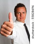A successful young business man - stock photo