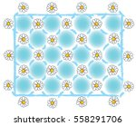 pattern daisy flower against... | Shutterstock .eps vector #558291706
