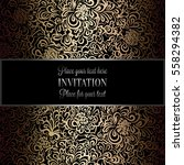 baroque background with antique ... | Shutterstock .eps vector #558294382