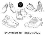vector illustration of set hand ...   Shutterstock .eps vector #558296422