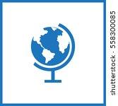 globe icon.  | Shutterstock .eps vector #558300085