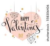 happy valentines day love...   Shutterstock .eps vector #558306406