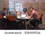 multiethnic startup business... | Shutterstock . vector #558309526