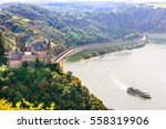 romantic rhine valley with...   Shutterstock . vector #558319906