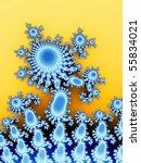 azure abstract flower on yellow ... | Shutterstock . vector #55834021