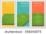 set of football field graphic... | Shutterstock .eps vector #558343075