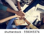 friends people group teamwork... | Shutterstock . vector #558345376