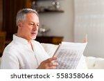 portrait of a mature man... | Shutterstock . vector #558358066