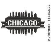 chicago stamp skyline  | Shutterstock .eps vector #558363172