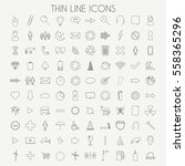 thin line icons illustration | Shutterstock .eps vector #558365296
