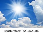 deep blue sky sunny day and big ... | Shutterstock . vector #558366286