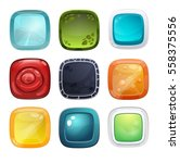 set of different buttons for... | Shutterstock .eps vector #558375556
