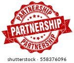 partnership. stamp. sticker.... | Shutterstock .eps vector #558376096