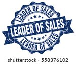 leader of sales. stamp. sticker.... | Shutterstock .eps vector #558376102