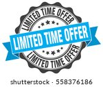 limited time offer. stamp.... | Shutterstock .eps vector #558376186